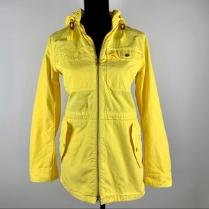 J.CREW Yellow Cotton Anorak Coat Womens Jacket S